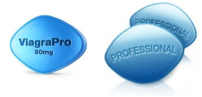 Viagra Professional tablet front and back view