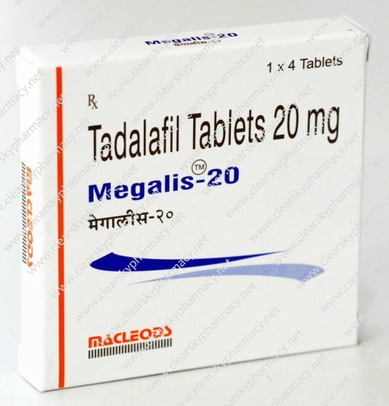 Megalis 20 mg Package