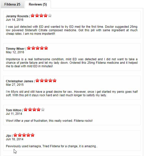 Fildena 25mg reviews