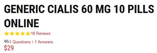 Cialis 60mg Price